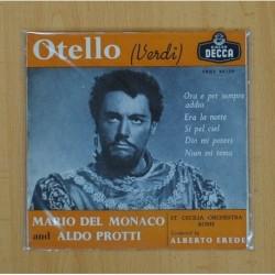 MARIO DEL MONACO & ALDO PROTTI - OTELLO (VERDI), ORA E PER SEMPRE ADDIO - SINGLE