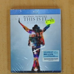MICHAEL JACKSON - THIS IS IT - BLU RAY