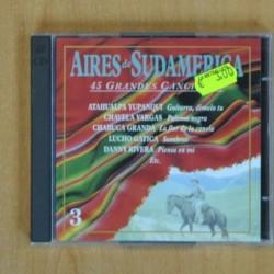 VARIOS - AIRES DE SUDAMERICA 45 GRANDES CANCIONES - 2 CD