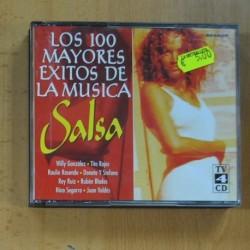VARIOS - LOS 100 MAYORES EXITOS DE LA MUSICA SALSA - 4 CD