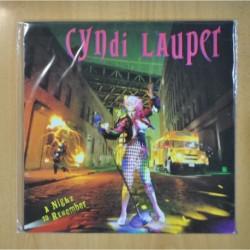 CYNDI LAUPER - A NIGHT TO REMEMBER - LP
