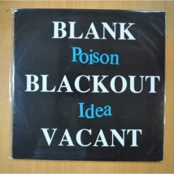 POISON IDEA - BLANK BLACKOUT VACANT - LP