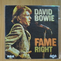 DAVID BOWIE - FAME / RIGHT - PROMO - SINGLE