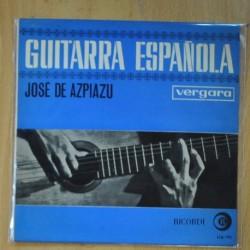 JOSE DE AZPIAZU - GUITARRA ESPAÑOLA EP - ROMANCE ANTIGUO + 7 - EP