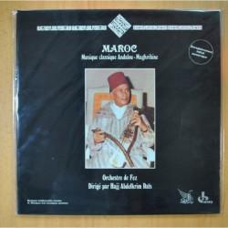 ORCHESTRE DE FEZ DIRIGE PAR HAJJ ABDELKRIM RAIS - MAROC MUSIQUE CLASSIQUE ANDALOU - GATEFOLD - LP