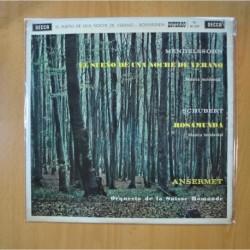 MENDELSSOHN / SCHUBERT - EL SUEÑO DE UNA NOCHE DE VERANO / ROSAMUNDA - LP