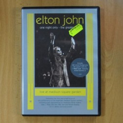 ELTON JOHN - ONE NIGHT ONLY LIVE AT MADISON SQUARE GARDEN - DVD