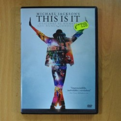 MICHAEL JACKSON - THIS IS IT - DVD