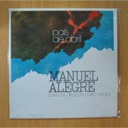 MANUEL ALEGRE - PAIS DE ABRIL / POEMAS DITOS POR MARIO VIEGAS - GATEFOLD - LP