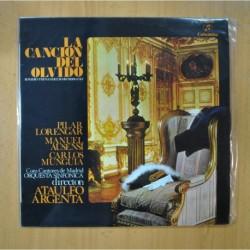 PILAR LORENGAR / MANUEL AUSENSI / CARLOS MUNGUIA / ATAULFO ARGENTA - LA CANCION DEL OLVIDO - LP