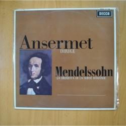 ANSERMET - ANSERMET DIRIGE MENDELSSOHN - LP