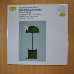 JOHANN SEBASTIAN BACH - BRANDENBURG CONCERTOS NOS 4 5 6 - LP