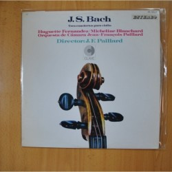 J. S. BACH - TRES CONCIERTOS PARA VIOLIN - LP