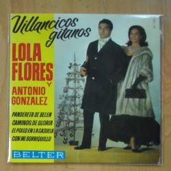 LOLA FLORES & ANTONIO GONZALEZ - VILLANCICOS GITANOS - CON MI BORRIQUILLO + 3 - EP