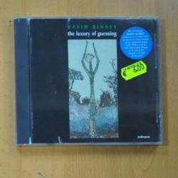 DAVID BINNEY - THE LUXURY OF GUESSING - CD