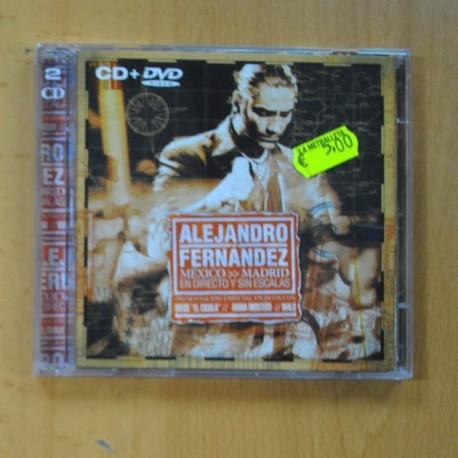 ALEJANDRO FERNANDEZ - MEXICO MADRID EN DIRECTO Y SIN ESCALAS + DVD - 2 CD