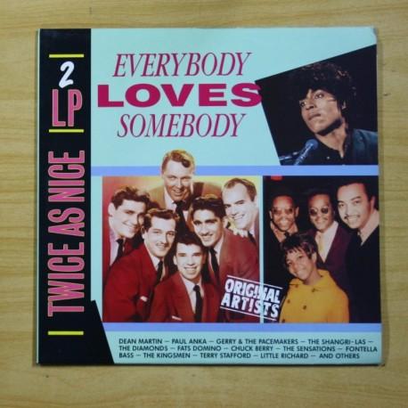 VARIOS - EVERYBODY LOVES SOMEBODY - 2 LP