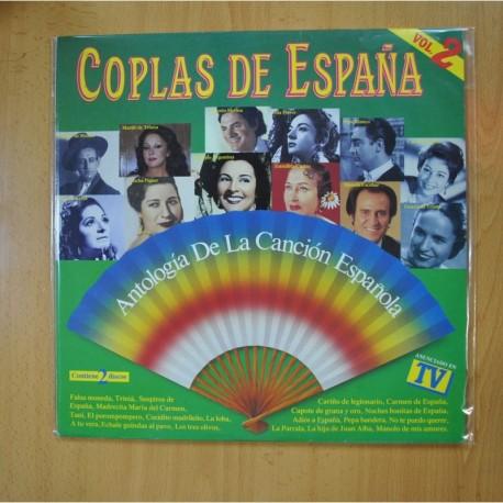 VARIOS - COPLAS DE ESPAÑA ANTOLOGIA DE LA CANCION ESPAÑOLA - 2 LP