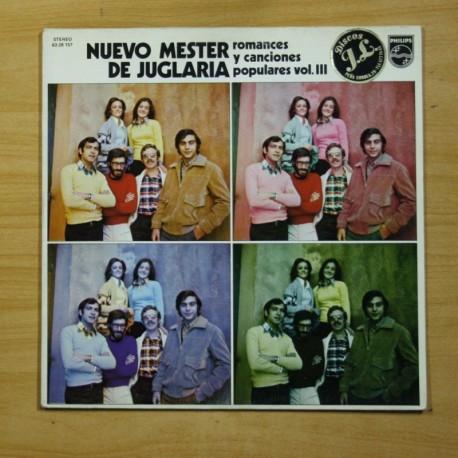 NUEVO MESTER DE JUGLARIA - ROMANCES Y CANCIONES POPULARES VOL III - LP