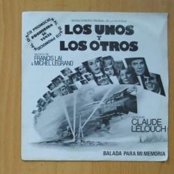 FRANCIS LAI & MICHEL LEGRAND - LOS UNOS Y LOS OTROS B.S.O. - BALLADE POUR MA MEMOIRE / SERENADE FOR SARAH - SINGLE