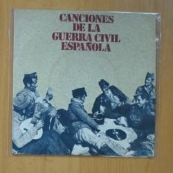 CANCIONES DE LA GUERRA CIVIL ESPAÑOLA - FALANGISTA SOY + 3 - EP