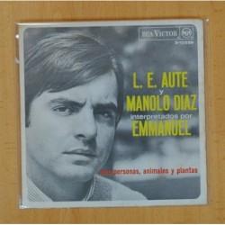 L. E. AUTE Y MANOLO DIAZ INTERPRETADOS POR EMMANUEL - AMA / PERSONAS, ANIMALES Y PLANTAS - 13000