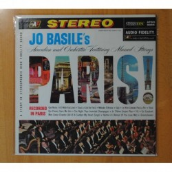 JO BASILE ACCORDION AND ORCHESTRA FEATURING MASSED STRINGS - PARIS! - LP