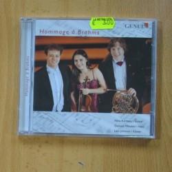 NINA KARMON / DARIUSZ MIKULSKI / LARS JONSSON - HOMMAGE A BRAHMS - CD