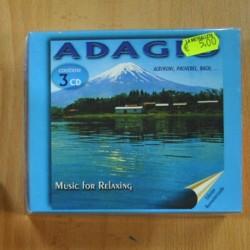ALBINONI / PACHELBEL / BACH - ADAGIO MUSIC FOR RELAXING - 3 CD