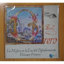FRAN GUERRERO - LA MUSICA EN LA ERA DEL DESCUBRIMIENTO VOLUMEN PRIMERO - LP