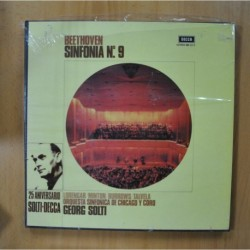 BEETHOVEN / GEORG SOLTI - SINFONIA N 9 - BOX 2 LP