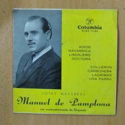 MANUEL DE PAMPLONA - JOTAS NAVARRAS - EP