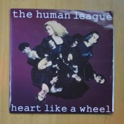 THE HUMAN LEAGUE - HEART LIKE A WHEEL / REBOUND - SINGLE