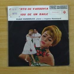 KLAUSS WUNDERLIGH - CONCIERTO DE VARSOVIA / RECUERDO DE UN BAILE - SINGLE
