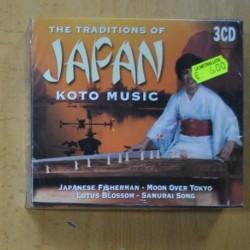 VARIOS - THE TRADITIONS OF JAPAN KOTO MUSIC - 3 CD