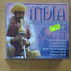 VARIOS - INDIA MYSTIC FLUTE & SITAR - 3 CD