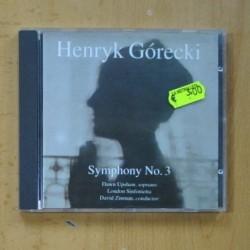 HENRYK GORECKI - SYMPHONY NO 3 - CD