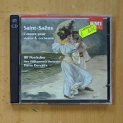 SAINT SAENS / ULF HOELSCHER / PIERRE DERVAUX - L´OEUVRE POUR VIOLON & ORCHESTRE - 2 CD
