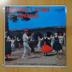 LUIS ARAQUE Y SU ORQUESTA ESPAÑOLA DE BAILE - CANCIONES Y RITMOS ESPAÑOLES - LP