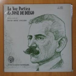 DAVID ORTIZ ANGLERO - LA VOZ POETICA DE JOSE DE DIEGO - LP
