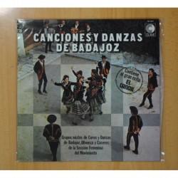 VARIOS - CANCIONES Y DANZAS DE BADAJOZ - LP