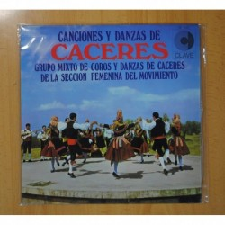 GRUPO MIXTO DE COROS Y DANZAS DE CACERES - CANCIONES Y DANZAS DE CACERES - LP