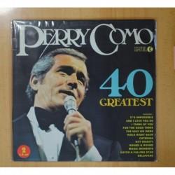 PERRY COMO - 40 GREATEST - 2 LP