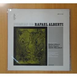 RAFAEL ALBERTI / NURIA ESPERT / ADOLFO MARSILLACH - POESIAS DE RAFAEL ALBERTI - LP