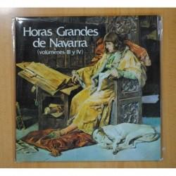 HORAS GRANDES DE NAVARRA VOLUMENES III Y IV - 2 LP