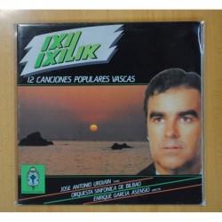 JOSE ANTONIO URDIAIN - 12 CANCIONES POPULARES VASCAS - LP