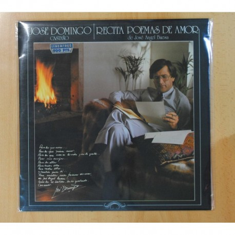 JOSE DOMINGO CASTAÑO - RECITA POEMAS DE AMOR DE JOSE ANGEL BUESA - LP