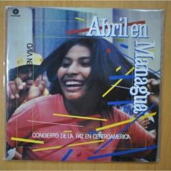 VARIOUS - ABRIL EN MANAGUA - 2 LP GATEFOLD