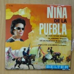 NIÑA DE LA PUEBLA - DE RAZA GITANA + 3 - EP