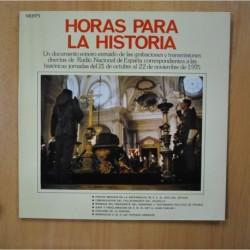 VARIOS - HORAS PARA LA HISTORIA - GATEFOLD - LP